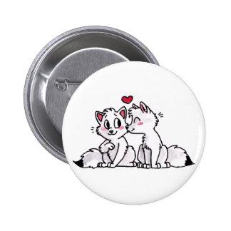 Botón del beso del Fox ártico Pin