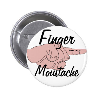 Botón del bigote del dedo pin