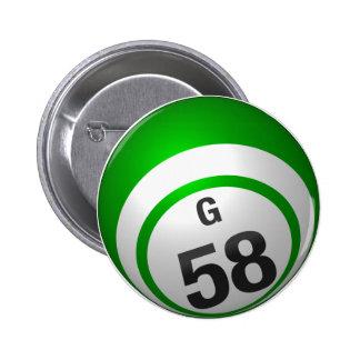 Botón del bingo de G 58 Pin Redondo De 2 Pulgadas