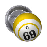 Botón del bingo de O 69 Pins