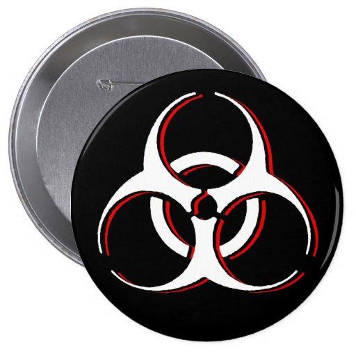 Botón del Biohazard - ceniza de la sangre del hues Pin