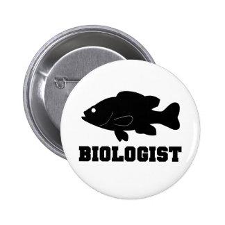 Botón del biólogo del Sunfish Pin Redondo De 2 Pulgadas