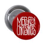 Botón del blanco de las Felices Navidad