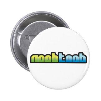 Botón del blanco de Noobtoob Pin Redondo De 2 Pulgadas