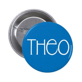 Botón del blanco de Theo Pins