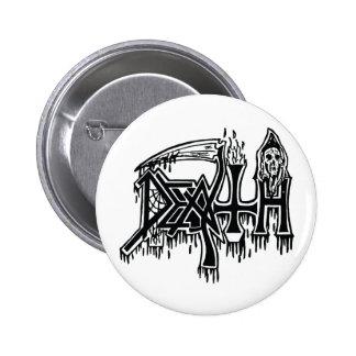 Botón del blanco del logotipo de la escuela vieja pin