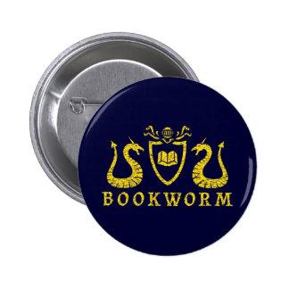 Botón del blasón del ratón de biblioteca pin redondo de 2 pulgadas