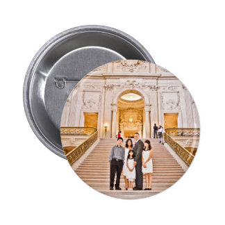 Botón del boda de Jenifer y de Greg Pins