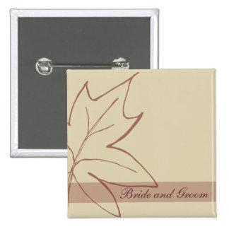 Botón del boda de la hoja de arce de la caída pin