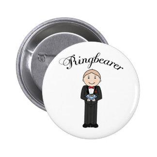 Botón del boda de Ringbearer Pin Redondo De 2 Pulgadas