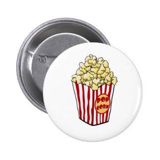 Botón del bolso de las palomitas del dibujo animad pin redondo de 2 pulgadas