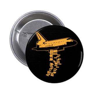 Botón del bombardero del transbordador espacial pin redondo de 2 pulgadas