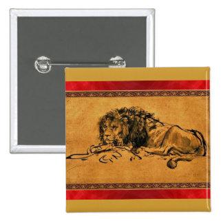 Botón del bosquejo del león