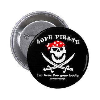 Botón del botín del pirata del amor