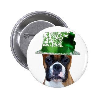 Botón del boxeador del día de St Patrick feliz Pin