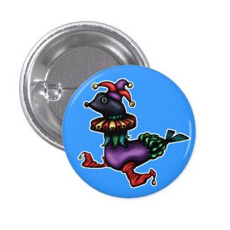 Botón del bufón pin redondo de 1 pulgada