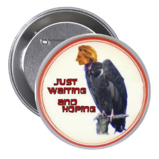 Botón del buitre 3-Inch de Hillary Pins