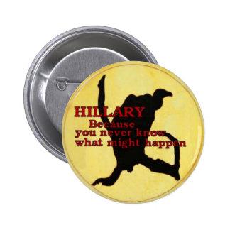 Botón del buitre de Hillary Pin
