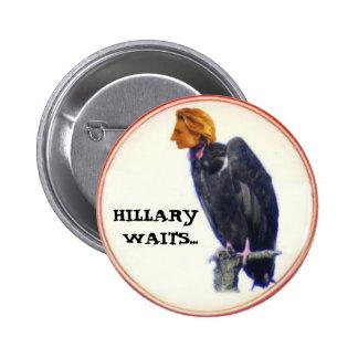 Botón del buitre de Hillary Pins