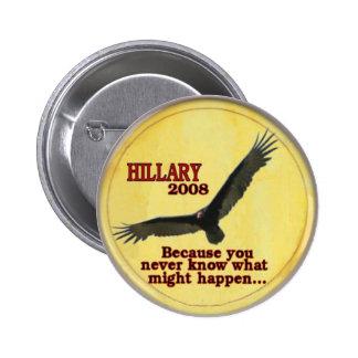 Botón del buitre del vuelo de Hillary Pins