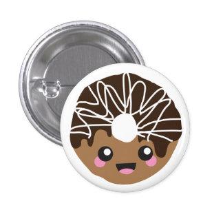 Botón del buñuelo de la comida de Kawaii Pin Redondo De 1 Pulgada