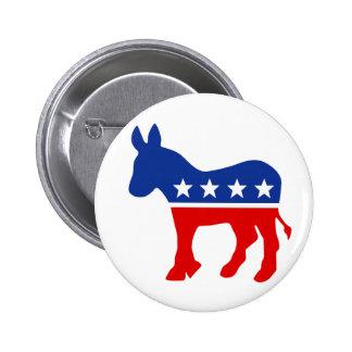 Botón del burro de Demócrata Pins