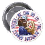 Botón del burro de Demócrata Pin
