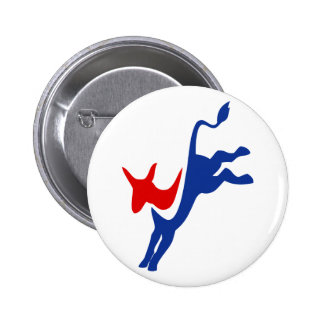 Botón del burro de Demócrata Pin Redondo De 2 Pulgadas