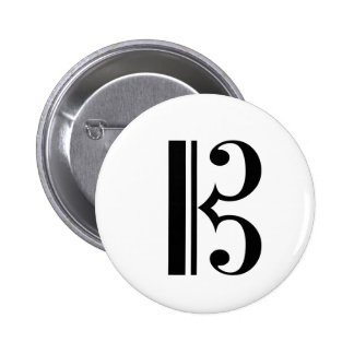 Botón del C-Clef Pin Redondo De 2 Pulgadas