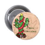Botón del cactus de navidad pins