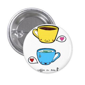 Botón del café o del té pins