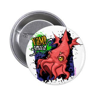 Botón del calamar del vampiro pin redondo de 2 pulgadas