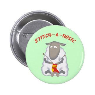 Botón del calcetero de la Puntada-uno-holic Pins