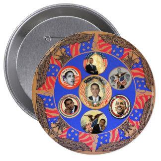 Botón del caleidoscopio 4-Inch de Obama