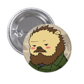 Botón del camafeo de Dostoevsky Pin Redondo De 1 Pulgada