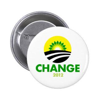 Botón del cambio 2012 de Obama Pin Redondo De 2 Pulgadas