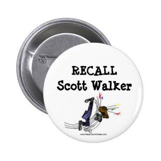 Botón del caminante de Scott de memoria Pins