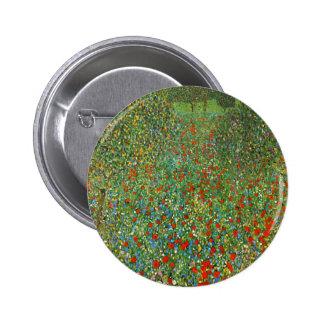 Botón del campo de la amapola de Gustavo Klimt