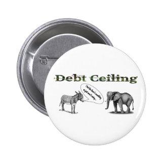 Botón del camuflaje del techo de deuda pin redondo de 2 pulgadas