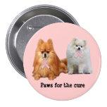 Botón del cáncer de pecho de Pomeranian Pin
