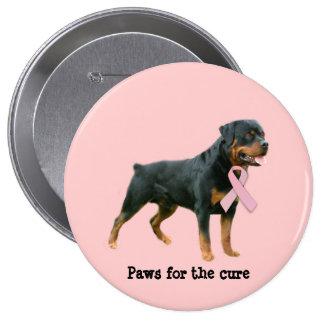 Botón del cáncer de pecho de Rottweiler Pins