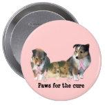 Botón del cáncer de pecho de Sheltie Pin