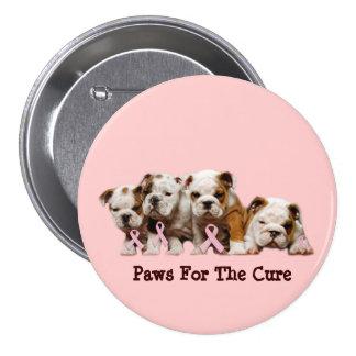 Botón del cáncer de pecho del dogo pin