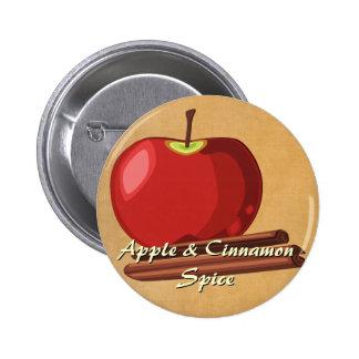 Botón del canela de Apple Pin Redondo De 2 Pulgadas