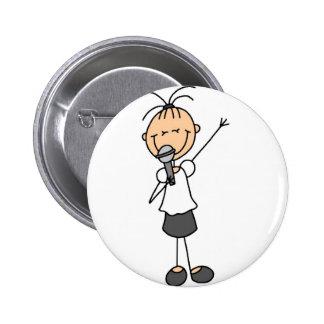 Botón del cantante pin