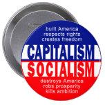 Botón del capitalismo pins