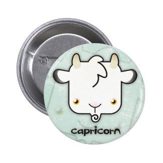Botón del Capricornio Pin