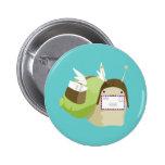 Botón del caracol del correo aéreo pin