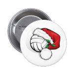Botón del casquillo de Santa del voleibol Pins