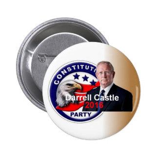 Botón del CASTILLO 2016 de Darrell Pin Redondo De 2 Pulgadas